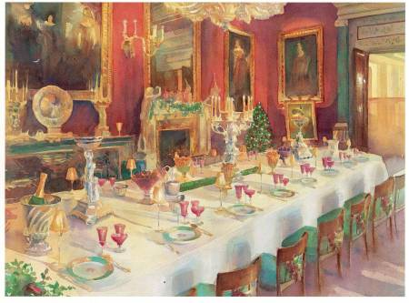 Picture of the Week: The dining room at Chatsworth house set for Christmas dinner